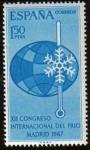 Sellos de Europa - España -  ESPAÑA 1967 1817 Sello Nuevo Congreso Internacional del Frio