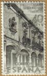 Sellos de Europa - España -  Casa de Queretano, Mexico - Forjadores de America