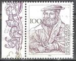 Stamps Germany -   500 Aniv de nacimiento de Hans Sachs,cantante principal y escritor.