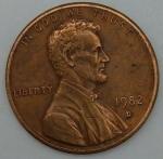 monedas del Mundo : America : Estados_Unidos :  1982 D one cent