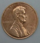 monedas de America - Estados Unidos -  1982 one cent
