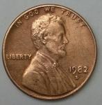 monedas de America - Estados Unidos -  1982 - D one cent