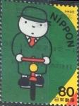 Stamps Japan -  Scott#2828g intercambio, 1,00 usd, 80 y. 2002