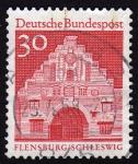 Stamps Germany -  INT-FLENSBURG/SCHLESWIG (ROJO)