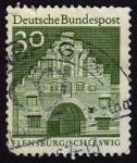 Stamps Germany -  INT-FLENSBURG/SCHLESWIG (VERDE)
