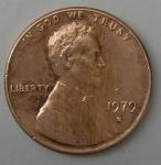 monedas de America - Estados Unidos -  1979 - D one cent
