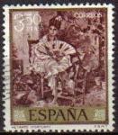Sellos de Europa - España -  ESPAÑA 1968 1861 Sello Pintor Mariano Fortuny Marsal Retrato Usado