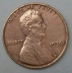 monedas de America - Estados Unidos -  1976 one cent