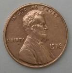 monedas del Mundo : America : Estados_Unidos :  1976 one cent