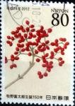 Stamps Japan -  Scott#3419 intercambio, 0,90 usd, 80 y. 2012