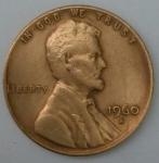 monedas de America - Estados Unidos -  1960 - D one cent