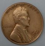 monedas del Mundo : America : Estados_Unidos :  1961 -D one cent