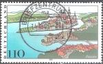 Sellos de Europa - Alemania -  Paisajes en Alemania,los ríos Danubio, Inn y Ilz en Passau.