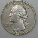 monedas de America - Estados Unidos -  1964 plata quarter dollar