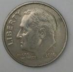 monedas de America - Estados Unidos -  2010 - P one dime