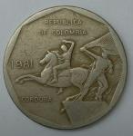 monedas de America - Colombia -  1981- 10 pesos