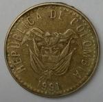 monedas de America - Colombia -  1991 - 20 pesos