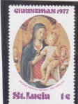 Stamps : America : Saint_Lucia :  Navidad.77