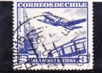 Sellos de America - Chile -  linea aérea nacional