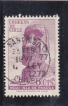Stamps Chile -  Moai de la isla de Pascua