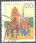 Sellos de Europa - Alemania -  450 años Schulpforta,Iglesia del Convento Pforta.