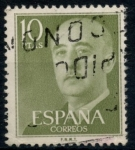 Stamps : Europe : Spain :  ESPAÑA_SCOTT 835.02 GEN. FRANCO. $0,2