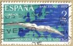 Stamps Spain -  XII Campeonatos Europeos de Natacion, saltos y waterpolo