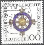 Sellos de Europa - Alemania -  150º Anniv. De Clase Civil de Orden de Mérito.