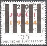 sellos de Europa - Alemania -  50º Anniv. De intento de asesinato de Adolf Hitler.