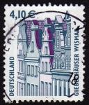 Stamps Germany -  COL-GIEBELHÄUSER WISMAP¿?