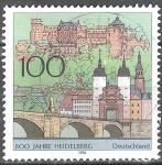 sellos de Europa - Alemania -  800 años Heidelberg.