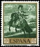 Sellos del Mundo : Europa : España : ESPAÑA SEGUNDO CENTENARIO NUEVO Nº 1242 ** 70C VERDE VELAZQUEZ