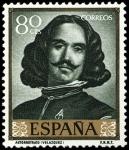 Sellos del Mundo : Europa : España : ESPAÑA SEGUNDO CENTENARIO NUEVO Nº 1243 ** 80C VERDE OSCURO VELAZQUEZ