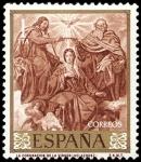 Sellos del Mundo : Europa : España : ESPAÑA SEGUNDO CENTENARIO NUEVO Nº 1244 ** 1P ROJO CASTAÑO VELAZQUEZ