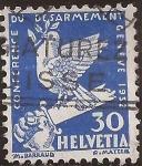 Sellos de Europa - Suiza -  Conferencia de Desarme de Ginebra  1932  30 cents