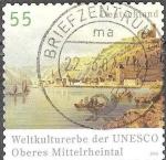sellos de Europa - Alemania -  Patrimonio de la Humanidad por la UNESCO, medio superior del valle del Rin.