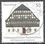 Sellos de Europa - Alemania -  Edificios de madera en Alemania de 1625 Hartenstein (Sachsen).