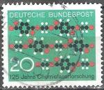 Sellos de Europa - Alemania -  125 años de investigación química de fibra.