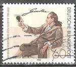 Sellos de Europa - Alemania -  150 aniv de la muerte de Johann Wolfgang von Goethe,  poeta, crítico, naturalista.
