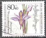 Sellos de Europa - Alemania -  Por el bienestar, Orquídea: Violeta Limodore.