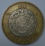 monedas de America - México -  1999 - 10 pesos