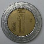 monedas de America - México -  2010 - 1 peso