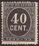 Stamps : Europe : Spain :  Impuesto de Guerra  1898  40 cts