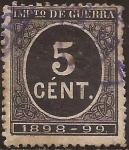 Stamps : Europe : Spain :  Impuesto de Guerra  1898  5 cts