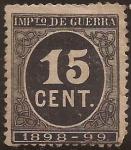Stamps : Europe : Spain :  Impuesto de Guerra  1898  15 cts