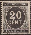 Stamps : Europe : Spain :  Impuesto de Guerra  1898  20 cts