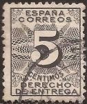 Stamps : Europe : Spain :  Derecho de Entrega  1931  5 cts