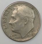 monedas de America - Estados Unidos -  1980 D one dime