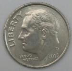 monedas de America - Estados Unidos -  2013 D one dime