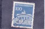 Sellos del Mundo : Europa : Alemania : puerta de Brandenburgo